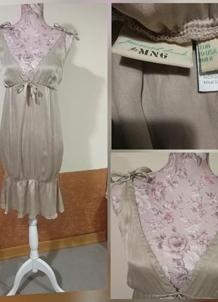 Фирменное стильное качественное натуральное шелковое платье туника.