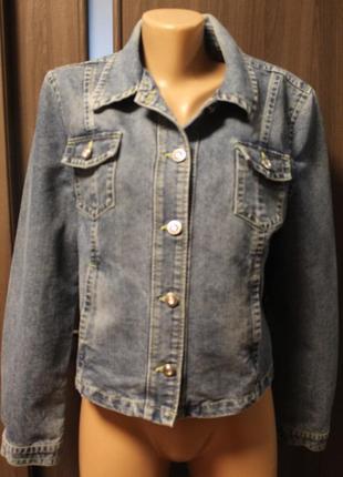 Джинсовая куртка george в отличном состоянии l