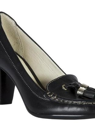 Кожаные туфли лоферы geox respira р 38