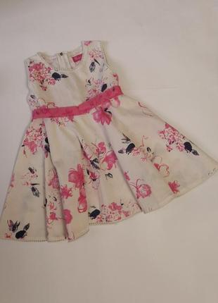 Лёгкое нежное платье rosso kid на 3 года