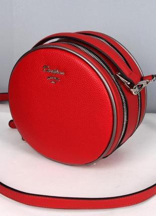 Кругляшки кросс-боди сумка с новой коллекции david jones фабус  красная