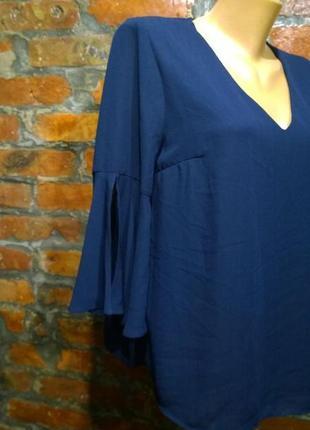 Романтичный тренд весны блуза кофточка с объемными рукавами f&f3 фото
