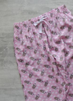 Love to lounge милые домашние пижамные розовые штаны в кофейных стаканах