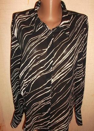 Блуза со стильным арнаментом р. 6xl - amaranto