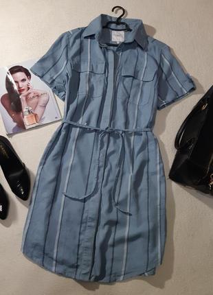 Стильное льняное платье рубашка. размер l