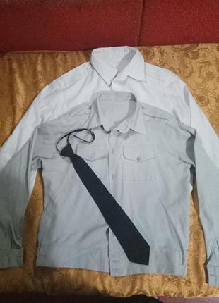 Рубашки для школьника-кадета с галстуком