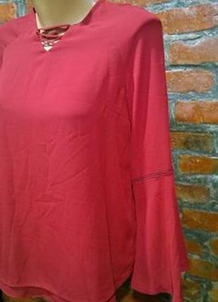 Обновка каждый день! блуза кофточка с объемными рукавами и шнуровкой2 фото