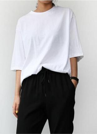 Обнова! джоггеры брюки штаны на манжете зауженные укороченные черные с подкатами