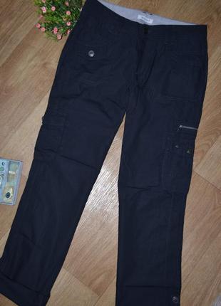 Германские-c&a ,от yessica, стильные, практичные, черные штаны-трансформеры