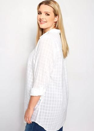 Белоснежная фактурная блуза -рубашка  glassons в стиле оверсайз,размер l