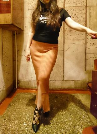 Трендовая макси юбка в рубчик 🔸бренд lavish alice