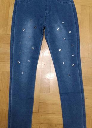 Лосины с имитацией джинсы для девочек grace