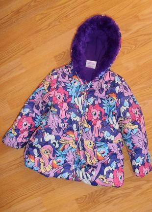 Симпатичная яркая курточка с пони,  my little pony