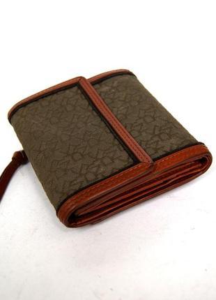 Компактный кожаный кошелек dkny. оригинал