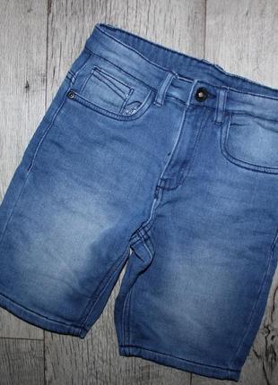 Стильные шорты бриджи джинсовые kidzalive 10 лет, рост 140 см.