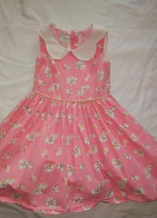 Пышное платье на девочку 4-5 лет,110 см,хлопок,от next