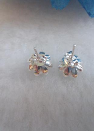 Серьги-гвоздики,серебро 9259