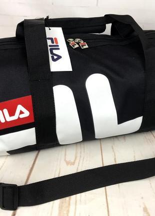 Небольшая красивая спортивная сумка бочонок fila. раз.44см на 23 ксс12