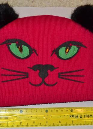 Шапка -кошка с ушками