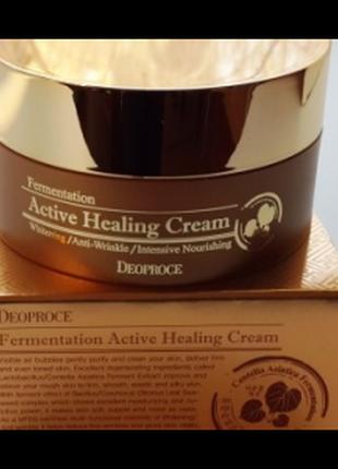 Питательный ферментированный крем deoproce fermentation active heling cream