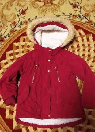 Парка куртка nutmeg на 2-3 года