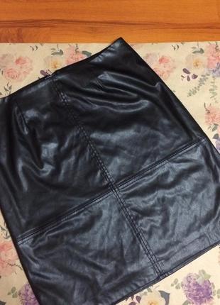 Трендовая юбка под кожу7