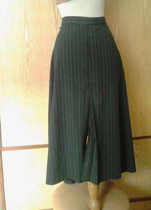 Красивая серо- зеленая юбка с разрезом спереди, хl - 2хl.