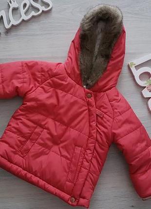 Очень красивая и стильная куртка на девочку 6-9мес., холодная весна-осень