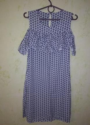Красивое  лёгкое летнее платье с воланами и карманами