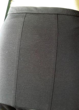 Черная трикотажная вискозная юбка 12и-клинка, 2хl-  3хl.4 фото