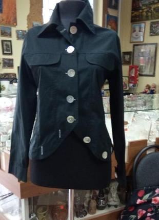 Рубашка пиджак с крупными пуговицами