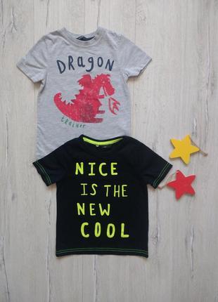 2-3 года, комплект футболок george.