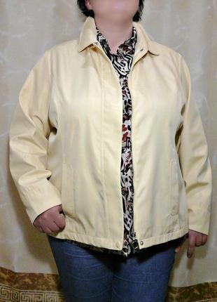 """Легкая куртка, ветровка от """"bm"""" ванильного оттенка на молнии"""