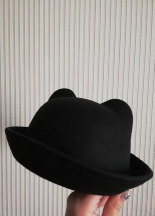 Шляпка кошечка