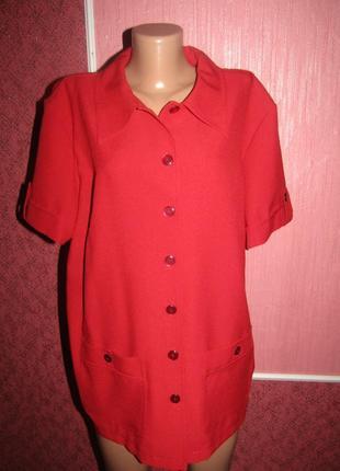 Рубашка пиджак большой р-р 22 сост новой