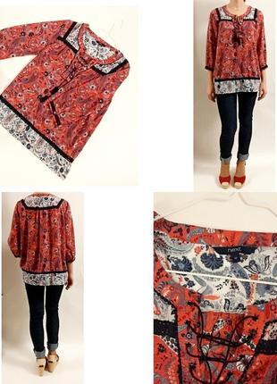 Блуза в стиле бохо! next! размер 12!