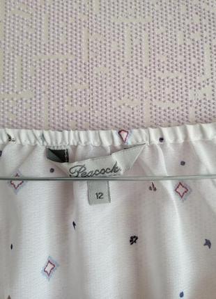 Летняя шифоновая прозрачная блуза с принятом турецкий огурец туника под купальник3 фото