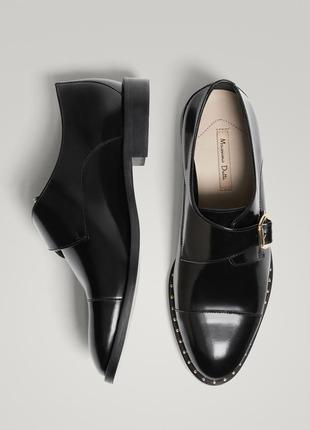 Кожаные туфли,полу ботинки,криперы massimo dutti