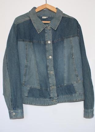 Джинсовая куртка женская, размер 50