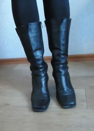 Качество! кожа! демисезонные сапоги ботинки р.39 код v3961