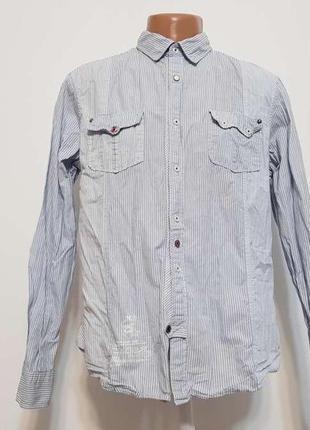 Рубашка river island arab emirates, 100% хлопок, l, как новая!