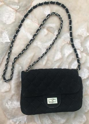 Модная стильная  бархатная сумка из италии недорого