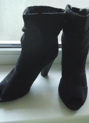 Моднейшие ботильоны ботинки с открытым носком,  р.38 код b3869