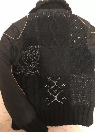 Зимняя куртка тёплая с вязаной спиной s размер