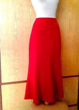 Красная алая юбка 8ми-клинка, 3xl.