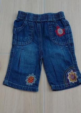 0-3 месяца красивые джинсовые шортики !