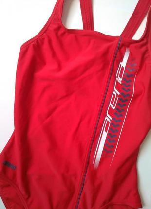 12-14 м-л спортивный цельный красный купальник для бассейна2 фото