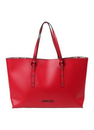 Красная сумка armani jeans