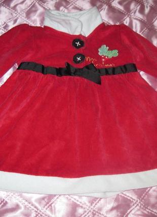 Красивое новогоднее платье george на 3-6 мес.