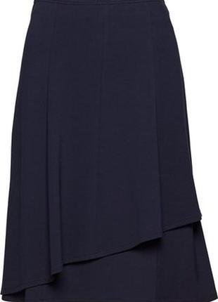 Черная 2хярусная шифоновая юбка, 2xl.